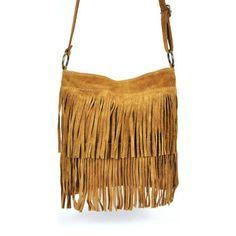 Sacs à main Oh My Bag Sac à Main bandoulière femme en cuir à franges cognac COGNAC 350x350