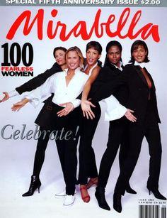 Mirabella cover with Rosemary McGrothaKaren AlexanderYasmeen Ghauri, Lauren Hutton, Veronica Webb - June 1994