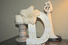 Items similar to Monogram: Mr & Mrs Letter Monogram with burlap and pearl accents - door or wall hanging on Etsy Initial Wall, Letter Monogram, Monogram Wall, Mr Mrs, Burlap, Initials, Presents, Symbols, Winter Weddings