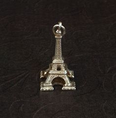 Vintage STERLING Silver Bracelet CHARM Eiffel Tower by YearsAfter, $25.00