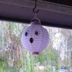 Dollar Tree Ghost Lanterns
