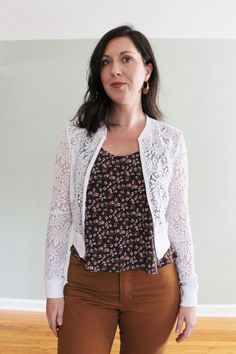 Lulu sewing pattern from Patternscout is a stylish cardigan and such a useful garment for your wardrobe especially during the season's transitions Cardigan Pattern, Jacket Pattern, Sewing Magazines, Sporty Look, Princess Seam, Stretch Lace, Zip Ups, Sewing Patterns, September
