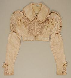 Beautifully detailed British silk spencer jacket ca. 1820