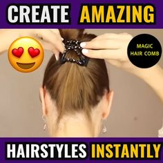 Hair troubles that you face daily. Many ways of hair masks you must know to execute in your life to provide the most effective healthy hair look. Hairstyle For Girls Video, Yogurt Hair Mask, Fancy Hairstyles, Hairstyles Videos, Magic Hair, Hair Loss Treatment, Hair Videos, Hair Today, Hair Comb