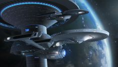 Star Trek Bridge Commander pic The Enterprise from Star Trek: Phase II and the Enterprise from Star Trek Enterprise's possible season 5 Phase II Enterprise and NX class refit by Wileycoyote Backgro...