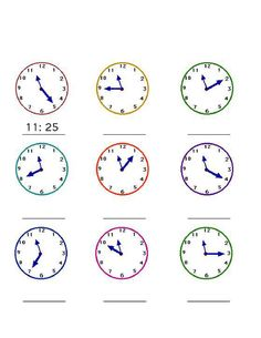 FREE worksheets, create your own worksheets, games. Math For Kids, Fun Math, Maths, Correct Time, Thematic Units, Telling Time, Create Your Own, Clock, Writing