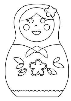 baboesjka popje kleurplaat