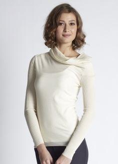 Mothers En Vogue - Asymmetric Cowlneck Woolen Pullover Sweater