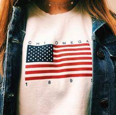 Chi omega sorority Greek life college apparel