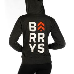 Women's Fall 2014 Zip Hoodie w/ Stacked Barry's www.barrysbootcamp.com #fitness #fitnessapparel #workoutclothes