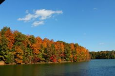 Fall day on Tim's Ford Lake in Winchester, TN