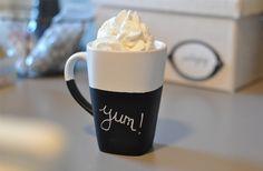 The Small Things Blog: DIY Chalkboard Mugs