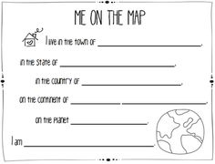 """To go with """"Me on the Map"""""""