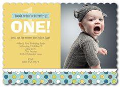 Confetti One Blue - photoaffections.com #photoaffections #boybirthday #birthdayinvitation #invitation #birthdayboy #birthday