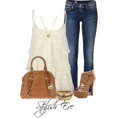 A fashion look from September 2013 featuring Full Tilt tops, Tommy Hilfiger jeans and Chinese Laundry sandals. Browse and shop related looks.