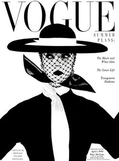 "Vogue UK cover, June 1950 with Jean Patchett by Irving Penn.""Black and white - more brilliant than colour; symbolic of a black and white season. Wide, round, level hat by Lilly Dache. Scarf by Kimball"" (Vogue). Vogue Vintage, Vintage Vogue Covers, Fashion Vintage, Retro Fashion, Vogue Uk, Vogue Paris, Arte Fashion, Editorial Fashion, Editorial Design"
