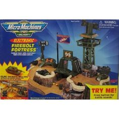 Micro Machines Firebolt Fortress Electronic Military Playset