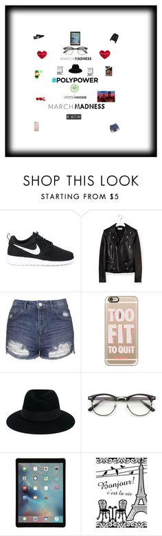 """""""Untitled #52"""" by nathanmeade ❤ liked on Polyvore featuring NIKE, Yves Saint Laurent, Topshop, Casetify and Maison Michel"""