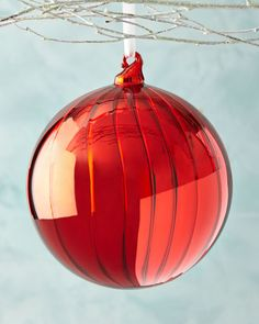 H8HLC Jim Marvin Shiny Fluted Ball Christmas Ornament