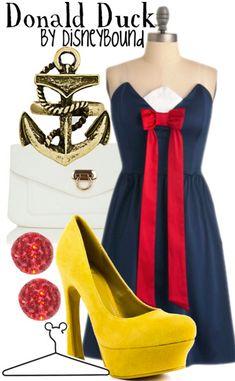 Dress as your favorite Disney character! #disney #donaldduck #fashion