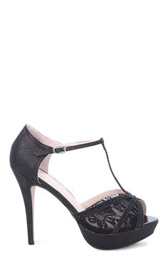 Deb Shops toe dressy high heel with #lace detail $32.13