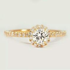 Just a hint for my boyfriend! I love this ring style! I also love the gold babes.