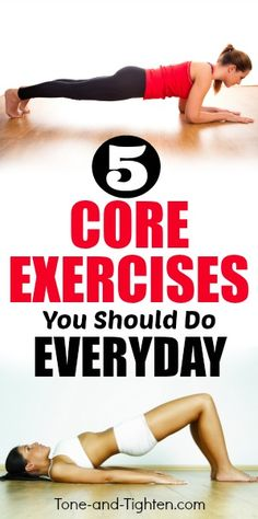 5 of the best core exercises you should do everyday. Great at-home ab workout from Tone-and-Tighten.com