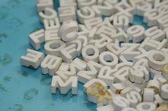 Hernard 3D Ceramic Letters  small by Fleaosophy on Etsy, $25.00