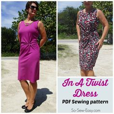 In a Twist Dress   PDF Sewing  pattern