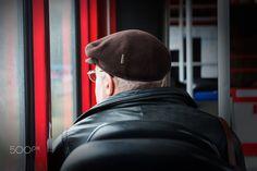 Commuter - Man in a Tram near Balti Jaam  in Tallinn