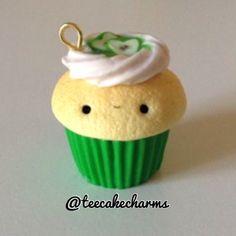 Apple cupcake charm!  #geekycraftercontest @geekycrafter2002