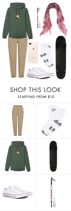 """Untitled #585"" by tamar4eveselinoska on Polyvore featuring Topshop, Vans, County Of Milan, Converse and Benefit"