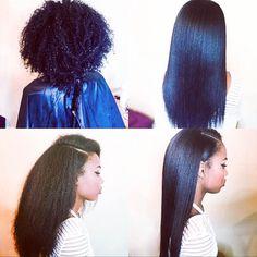 Natural Hair Silk Press with E'tae Hair Products - Voice of Hair