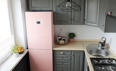 Think pink / kitchen makeover New Furniture, Sweet Home, Kitchen Cabinets, Pink, Kitchens, Interiors, Home Decor, Blog, Ideas
