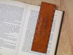 Latitude Longitude Leather Bookmark Secret by TinasLeatherCrafts. Repin To Remember.