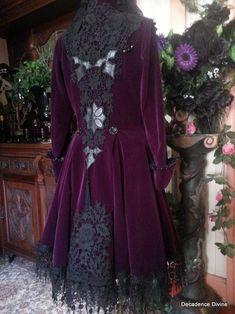 Fairy Clothes, Custom Drapes, Fantasy Dress, Vintage Gowns, Purple Velvet, Historical Clothing, Buy Dress, Refashion, Fashion Beauty
