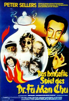 German movie poster image for The Fiendish Plot of Dr. Fu Manchu The image measures 480 * 700 pixels and is 128 kilobytes large. Dr Fu Manchu, Yellow Peril, Charlie Chan, Thing 1, Helen Mirren, Creature Feature, Detective, Literature, Weird