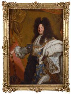 Hyacinthe RIGAUD (Perpignan, 1659 – Paris, entourage de « Portrait d Louis Xiv, Entourage, Versailles, Philippe V, Ludwig Xiv, Bonnard, Fontainebleau, Age 30, Portraits
