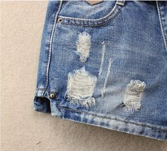 Womens Middle Waist Hole Denim Shorts Spring Summer Ripped Female Sexy Jeans Short Bermuda Femme Without Belt Short Jeans, Sexy Jeans, Blue Jean Shorts, Denim Shorts, Fashion Pants, Middle, Spring Summer, Belt, Female