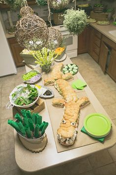 Everetts Alligator Themed First Birthday Party birthday halloween party Alligator Birthday Parties, Alligator Party, Frog Birthday Party, First Birthday Parties, Birthday Party Themes, First Birthdays, Birthday Ideas, 30th Birthday, Swamp Party