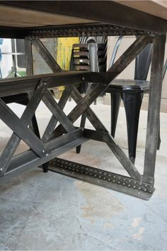 Industrial riveted table