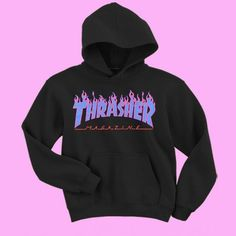 Thrasher blue flames Sweatshirt and Hoodie Cool Hoodies, Cool T Shirts, Thrasher Flame Hoodie, Nike Outfits, Cool Outfits, Thrasher Outfit, Ropa Hip Hop, Baggy Clothes, Blue Flames