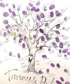 Family & Friends Finger Print Tree
