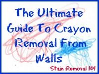Crayon Stain Removal From Clothing, Upholstery, Carpet And More