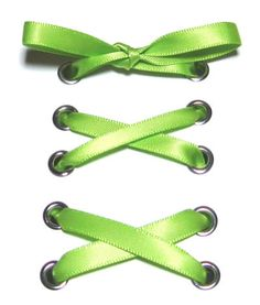 "1/4"" Apple Narrow Satin Ribbon Shoelaces ✿ Our beautiful ribbon shoelaces make your ordinary shoes look extraordinary ✿"