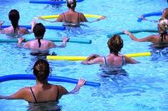 Pool noodles and water dumbbells are popular pieces of equipment in water aerobics class. Since they're made of styrofoam, they look so fun and colorful and innocent....until you start using them to do resistance exercises.