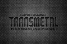 Transmetal Font by Graptail on Creative Market
