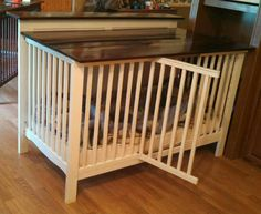 Dog crate/old crib More