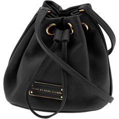 Marc by Marc Jacobs Too Hot to Handle Mini Drawstring Bag ❤ liked on Polyvore featuring bags, handbags, purses, bolsas, accessories, black, marc by marc jacobs handbags, black purse, handbags & purses e mini cross body purse