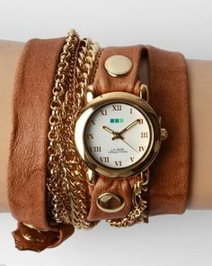 Watch, leather, chains...this is so up my alley